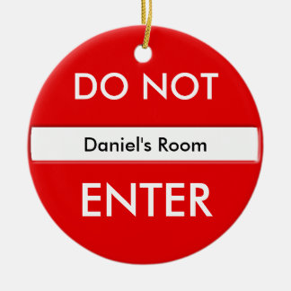 Do Not Enter Door Hanger Round Ceramic Decoration