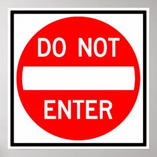 Do Not Enter Highway Sign