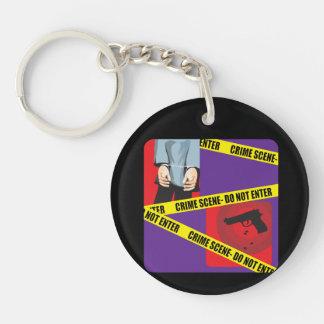 Do Not Enter Double-Sided Round Acrylic Key Ring