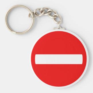 Do Not Enter (Keychain) Basic Round Button Key Ring