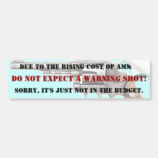 DO NOT EXPECT A WARNING SHOT!  BUMPER STICKER