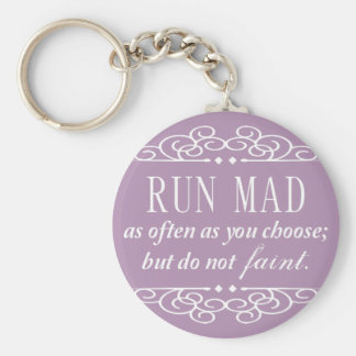 Do Not Faint Jane Austen Keychain (Pale Purple)