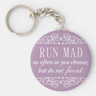 Do Not Faint Jane Austen Keychain (Pale Purple)