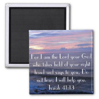 Do not fear bible verse Isaiah 41 13 magnet
