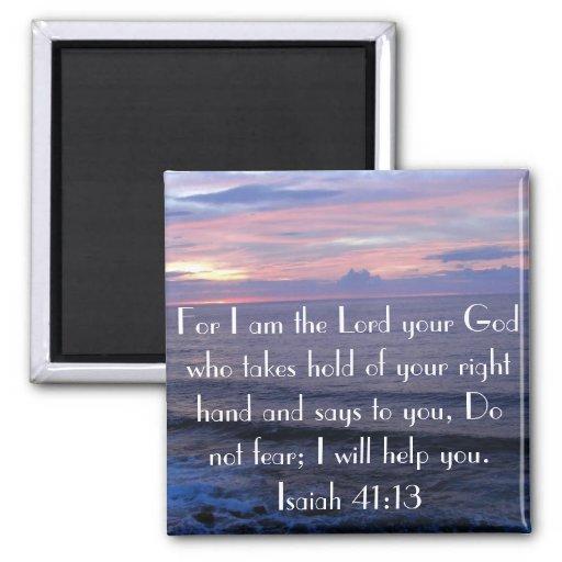 Do not fear bible verse Isaiah 41:13 magnet