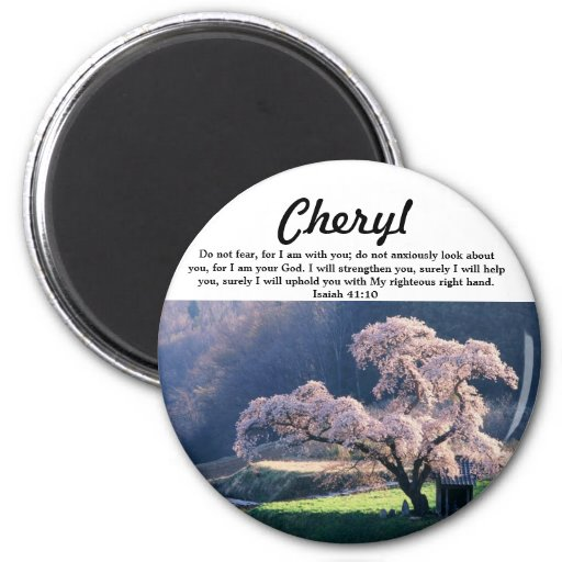 Do Not Fear ~ Cherry Blossom (Multiple Products Refrigerator Magnets
