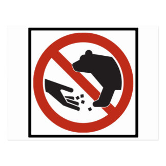 Do Not Feed the Bears Highway Sign Postcard