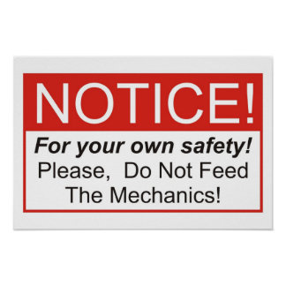 Do Not Feed The Mechanics! Poster