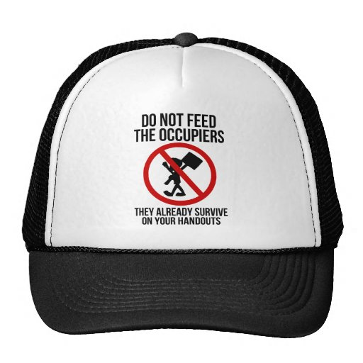 Do Not Feed The Occupiers Mesh Hat