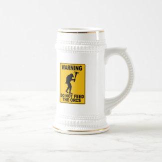 Do Not Feed the Orcs Coffee Mugs