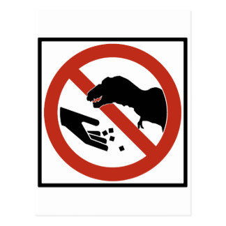 Do Not Feed the T-Rex Postcard