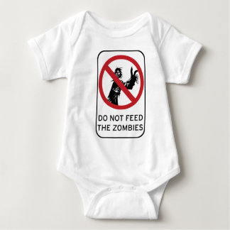 Do not feed the Zombies! clothing Baby Bodysuit