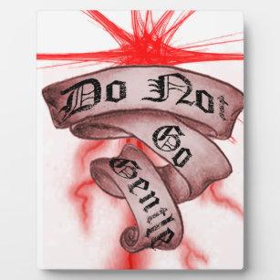 Do Not Go Gentle Plaque