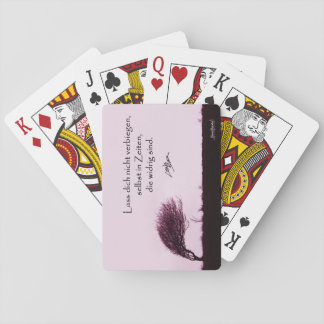 Do not let you bend playing cards