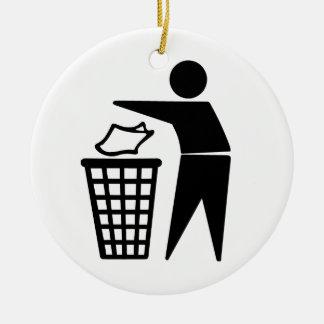 Do Not Litter Symbol Christmas Ornament
