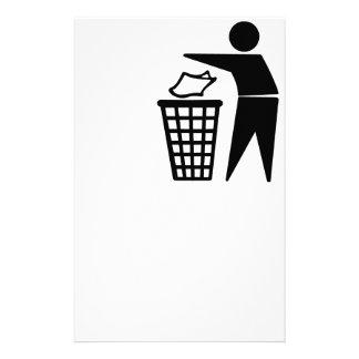 Do Not Litter Symbol Customized Stationery