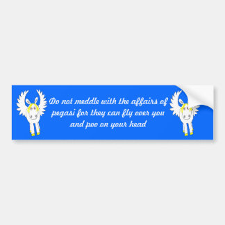 do not meddle with pegasi bumper sticker