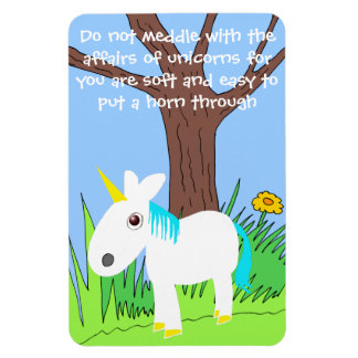 do not meddle with unicorns magnet vinyl magnets