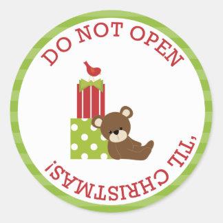 Do Not Open 'Till Christmas Stickers