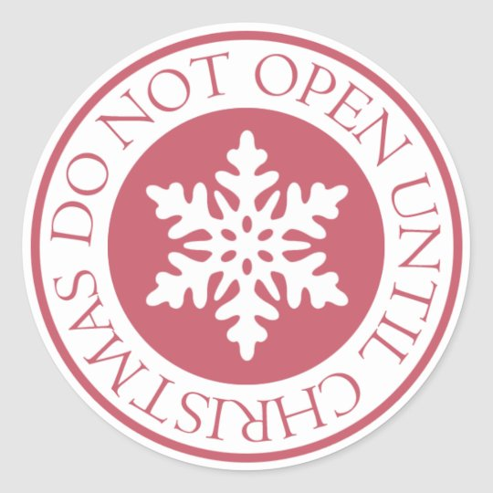 Do Not Open Until Christmas Snowflake Red Classic