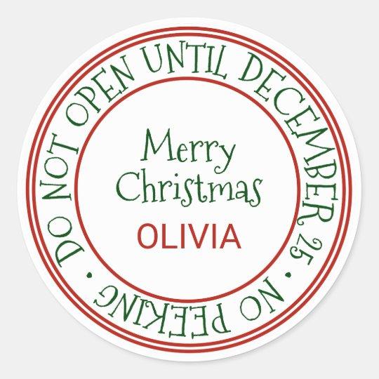 Do Not Open Until December 25 Christmas Gift