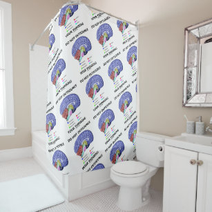 Do Not Outsource Your Thinking Brain Anatomy Humor Shower Curtain
