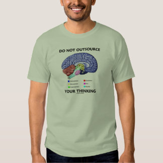 Do Not Outsource Your Thinking (Brain Anatomy) T Shirts