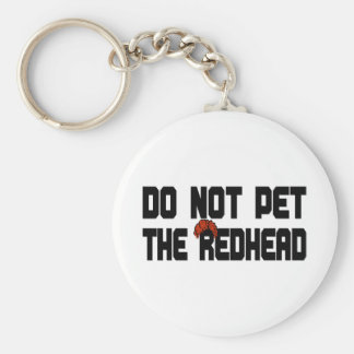 Do Not Pet The Redhead (w/ Wig) Basic Round Button Key Ring