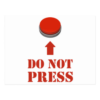 Do Not Press the Red Button Postcard