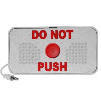 Do Not Push Button PC Speakers