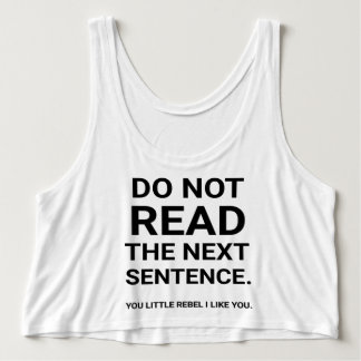 Do not read tank top
