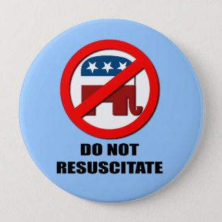 Do Not Resuscitate 10 Cm Round Badge