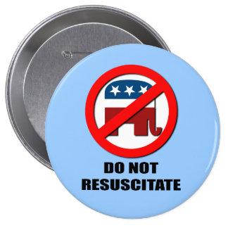 Do Not Resuscitate 10 Cm Round Badge