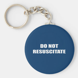 Do Not Resuscitate Basic Round Button Key Ring