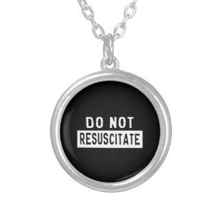 Do Not Resuscitate Round Pendant Necklace