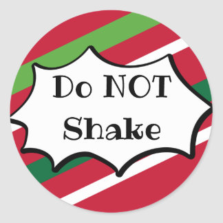 Do NOT Shake Holiday Sticker
