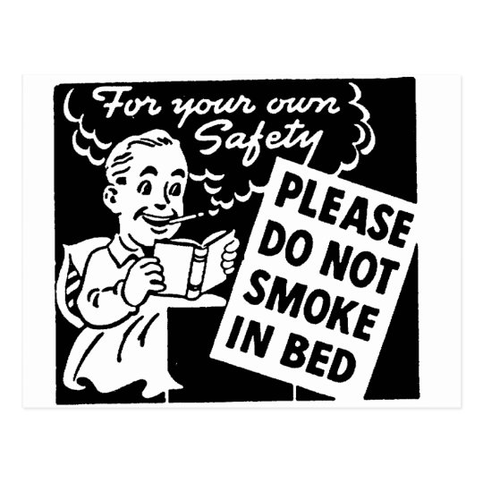Do Not Smoke in Bed Postcard