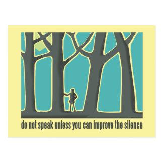 Do Not Speak Tree Hugger Postcard