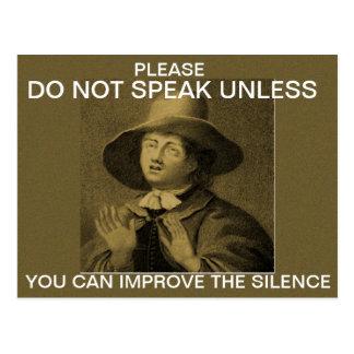 Do not speak unless... postcard