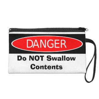 Do NOT Swallow Contents Wristlet Clutch