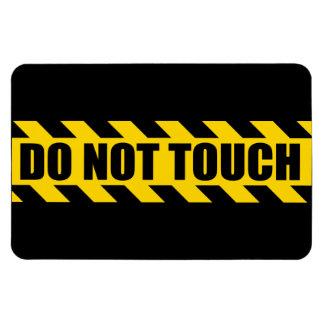 Do Not Touch Police Hazard Black Yellow Stripes Rectangular Photo Magnet