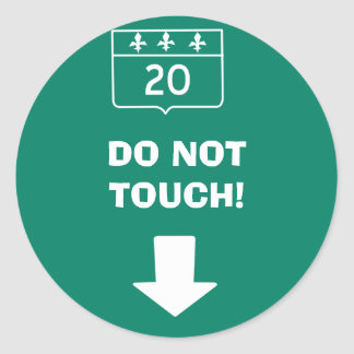 Do not touch road traffic sign sticker