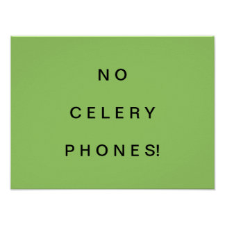 Do not use cell phone sign poster