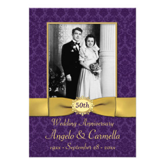 DO NOT USE GOLD PAPER!! Any Anniversary Invite