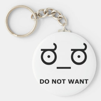 Do Not Want Disapproval Basic Round Button Key Ring