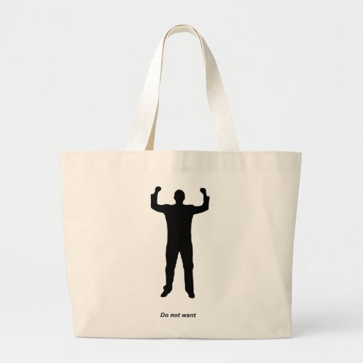 Do Not Want Silhouette Canvas Bag