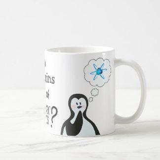 Do penguins dream of nuclear physics? basic white mug