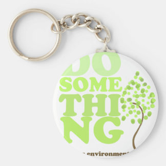 Do Something Basic Round Button Key Ring