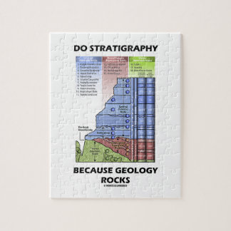 Do Stratigraphy Because Geology Rocks Grand Canyon Jigsaw Puzzle
