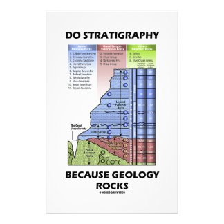 Do Stratigraphy Because Geology Rocks Grand Canyon Stationery